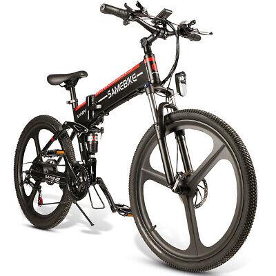 SAMEBIKE 26'' Folding Electric Bike Power Assist E-Bike 48V 350W Black Friday