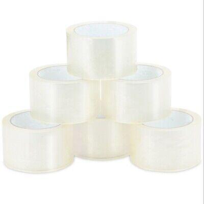 18 Rolls Carton Sealing Clear Packingshippingbox Tape 2 X 55 Yards New Usa