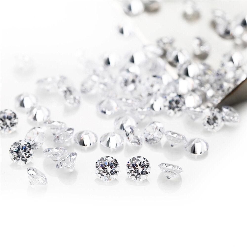 Wholesale Natural White Round Cut Loose Zircon Beads Diamonds Gemstone 1//1.5//2mm