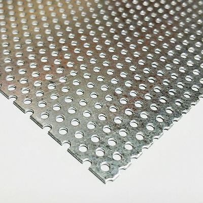 Galvanized Steel Perforated Sheet .034 X 12 X 24 - 332 Holes - 316 Centers