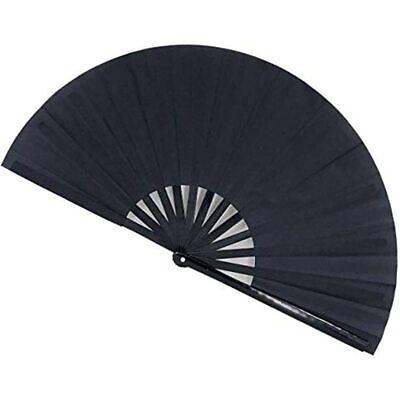 STHUAHE Large Folding Fan Rave Clack Hand Festival Fans For Women Men, Chinese