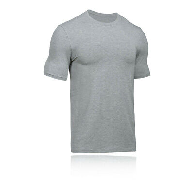 Under Armour Mens Athlete Recovery Sleepwear T Shirt Tee Top Grey Sports