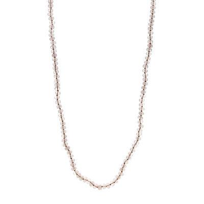 Rose Quartz Facet Rondelle Beads - 36