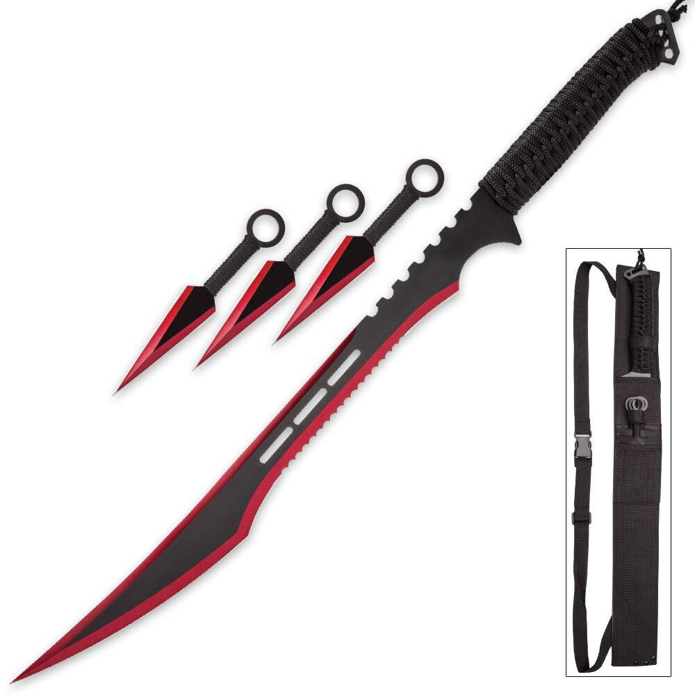 Snake Eye Tactical Ninja Sword and Kunai/Throwing Knife Set