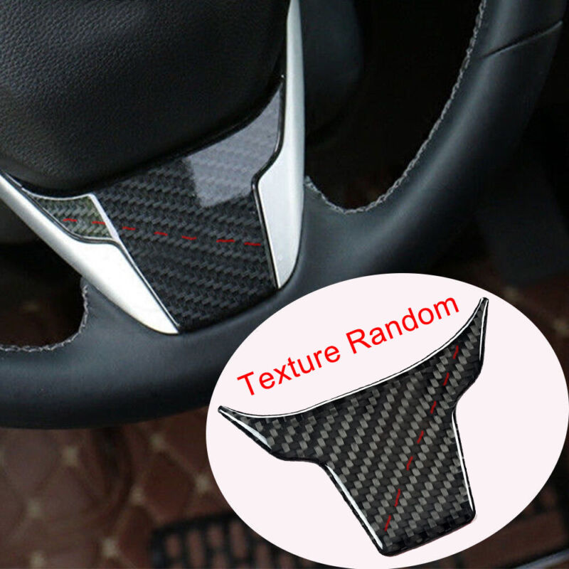 For Honda Civic 2016-2017 ABS Carbon Fiber Style Steering Wheel Cover Trim