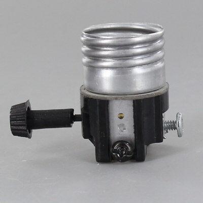 Leviton 3 TERMINAL ~ Turn Knob Lamp Socket Interior for Wiring Bottom Light Bulb Bottom Turn Knob Socket