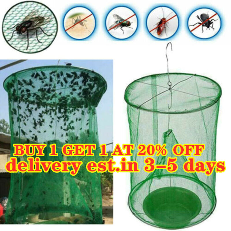 The Ranch Fly Trap Outdoor Fly Trap - Killer Bug Cage Net Pe