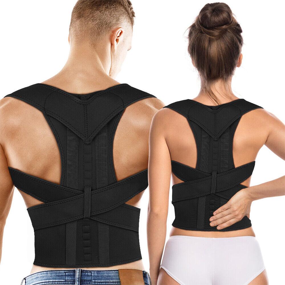 Adjustable Lumbar Support Lower Waist Back Belt Brace Pain R