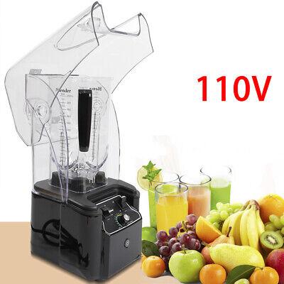 2.2l Commercial Electric Soundproof Cover Blender Maker Mixer Fruit Juicer Usa