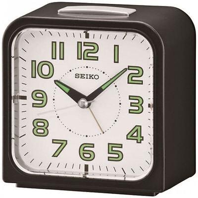 Seiko Wecker Alarm clock with White Dial & Bell Alarm - Lumibrite