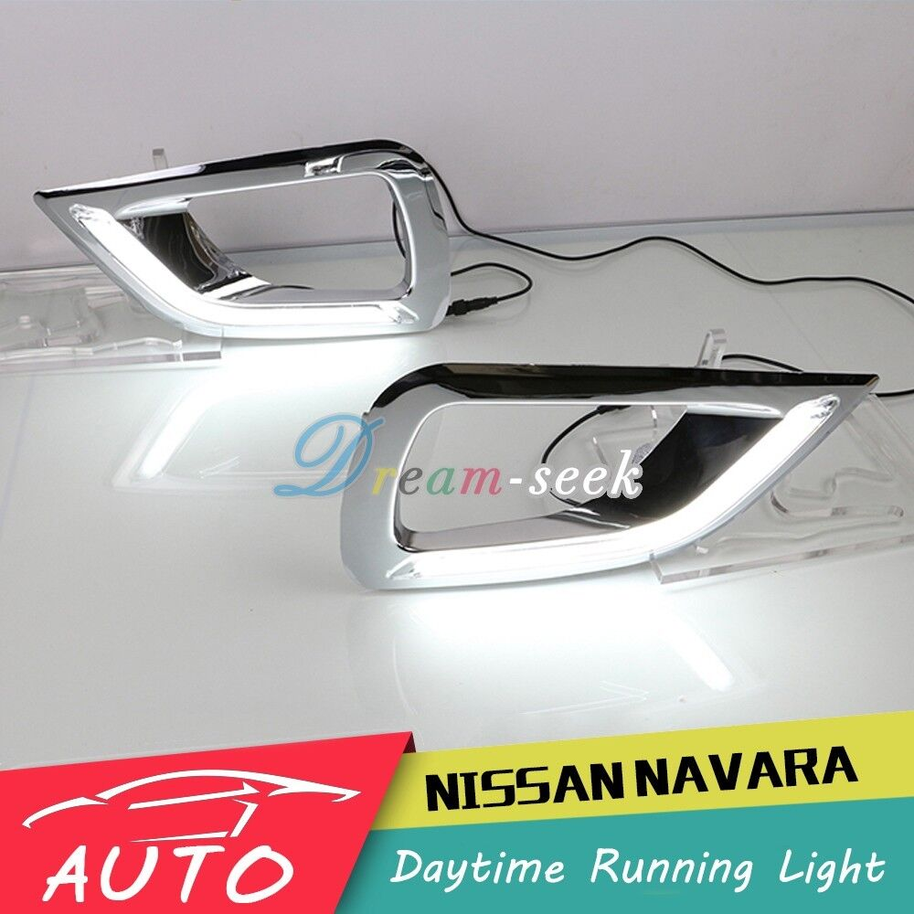 drl for nissan navara np300 2015 2016 led daytime running light fog lamp ebay