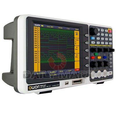 Owon Mso7102t Mixed Logic Analyzer Oscilloscope 100mhz 1gss 500mss 7.8 Lcd