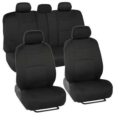 Chevrolet Cruze Seat - Car Seat Covers for Chevrolet Cruze 2 Tone Color Black w/ Split Bench