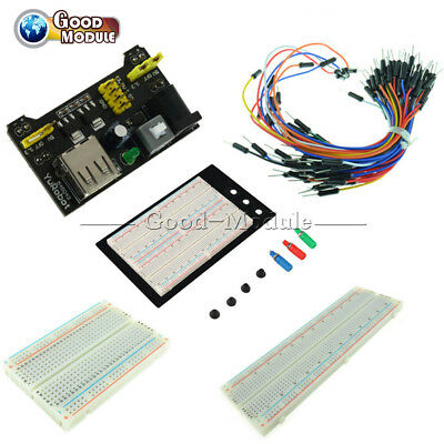 400830point Mb102 Breadboard 1660 Power Supply Module W Jump Wire For Arduino