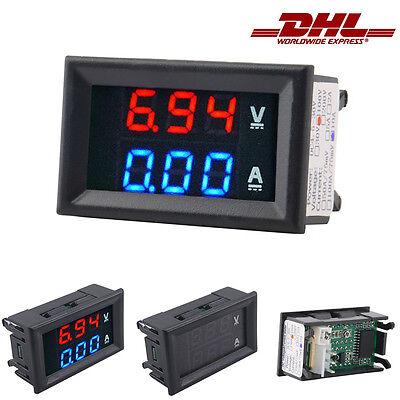 100V/10A  LED Digital Voltmeter Spannungsanzeige Amperemeter Strommesser &7
