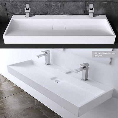 Luxus Design Waschbecken aus Gussmarmor Waschtisch Waschplatz Col19 120x46cm
