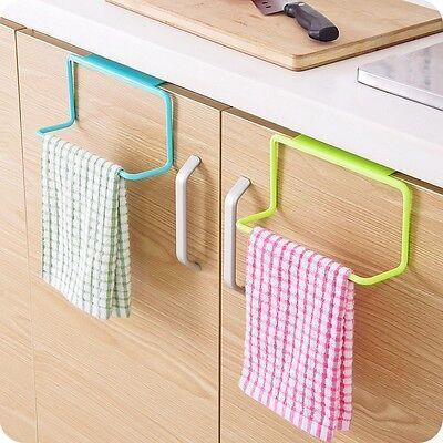 Towel Rack Hanging Holder Organizer Bathroom Kitchen Cabinet Cupboard HangerBlue