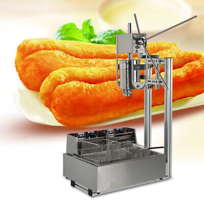 110v5000w 3l Stainless Steel Churros Machine Headbody12l Fryer With 5 Nozzles