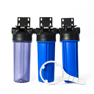 Three Stage Whole House Water Filtration Housing Kit 3/4in Ports Heavy Duty Whole House Reverse Osmosis