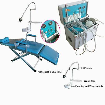 Dental Portable Folding Chair Delivery Unit System Cart Treatment Compressor