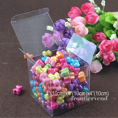 10,25,50,100,150 Clear Plastic PVC Gift Boxes Wedding Party Favor (4
