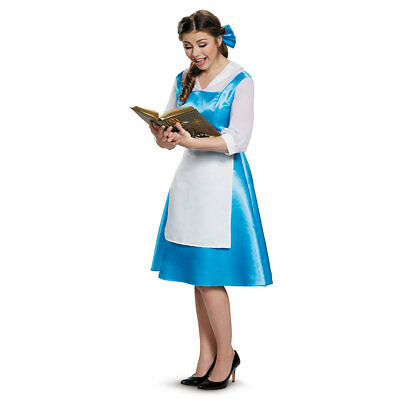 Womens Disney Belle Blue Dress Costume