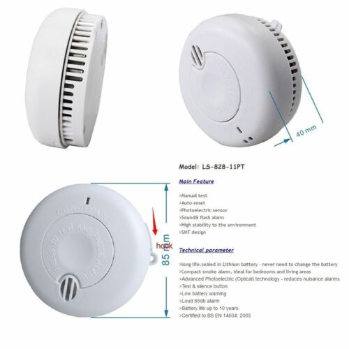smoke alarm lithium battery powered with 10