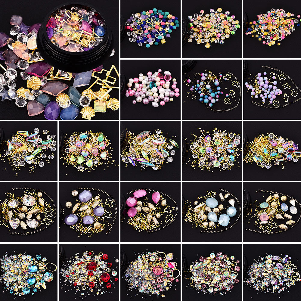 DIY 3D Nail Art Mixed Beads