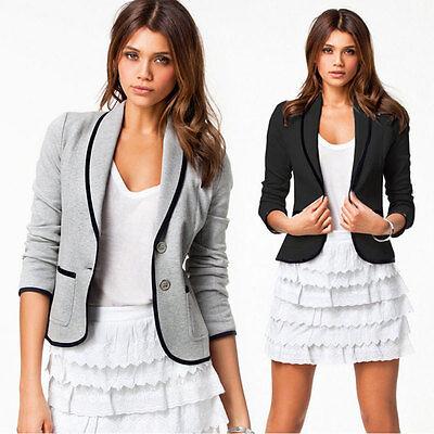 Damen Blazer Anzüge Jacke Kurzjacke Sakko Damenjacke Revers Mantel Oberteil 42