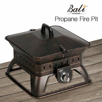 Propane Campfire (Bali Outdoors Portable Fire Pit propane campfire 50,000 BTUs W/Lava rock )