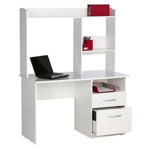 New hummingbird sturt student desk white desk computer desk office desk - Officeworks desktop ...
