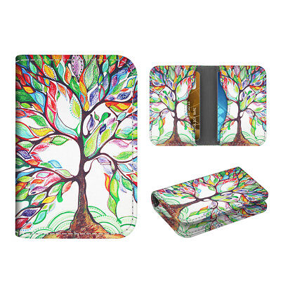 Business Card Holder Case Folio Credit Cards Id Card Wallet Organizer -love Tree