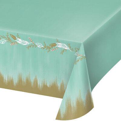 2-pack Mint To Be Premium Plastic Table Covers Bridal Shower Wedding Reception - Mint Green Plastic Tablecloth