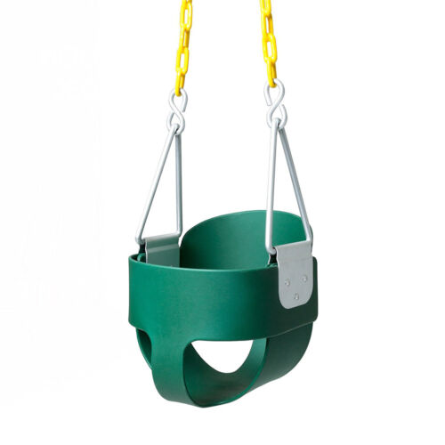 JOYMOR Outdoor High Back Full Bucket Toddler Swing Seat & Pl