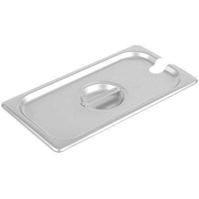 3 Pack 13 Size Slotted Stainless Steel Steam Table Hotel Pan Lid Cover