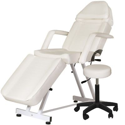 New Adjustable Portable Medical Dental Chair Wstool Combination White