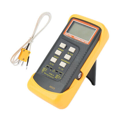 6802 Ii Dual Channel K Type Digital Thermocouple Thermometer Measurement Tester