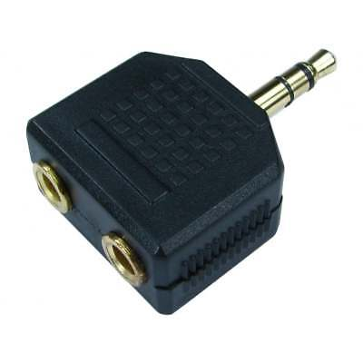3.5mm Jack Headphone Splitter Adaptor 1 x Stereo Plug to 2 x Sockets