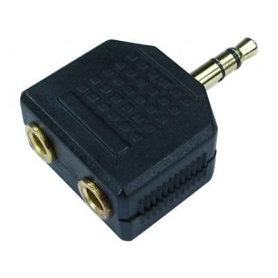 3.5mm Jack Headphone Splitter Adaptor 1 x Stereo Plug to 2 x (3-5 Mm Plug To 3-5 Mm Plug)