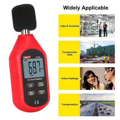Us Sound Level Meter Digital Lcd Display Noise Tester 30-130db Decibel Reader