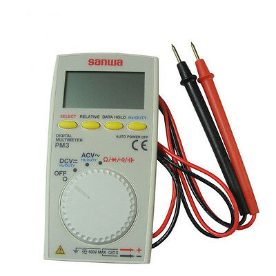 Sanwa Pocket Size Digital Multimeter Pm3 Pm-3 New