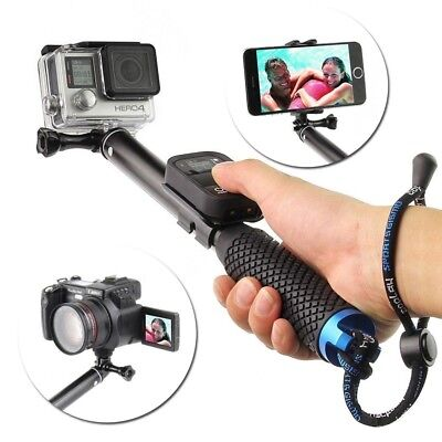 """37"""" Extendable Selfie Stick Pole Handheld Monopod for iPhone8/7/6 & GoPro 7/6/5, used for sale  Dallas"""