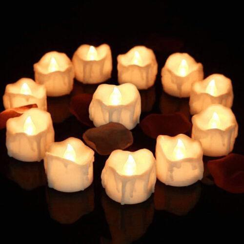 24x LED Teelichter mit Batterie Timer elektrische Teelichter LED Kerzen Teelicht