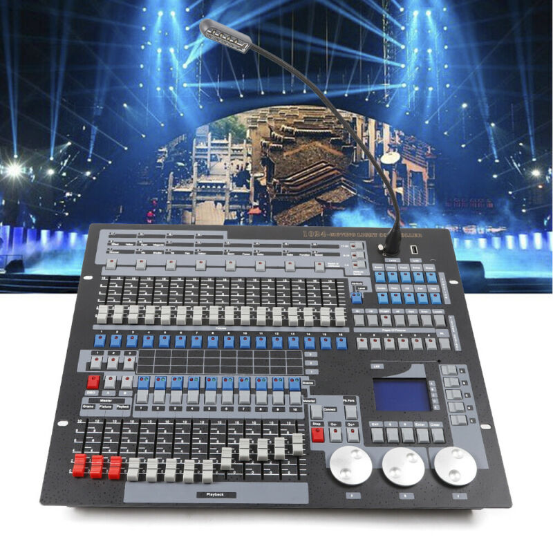 Moving Head Light Laser 1024 CH DMX 512 Controller Console Stage DJ Lighting