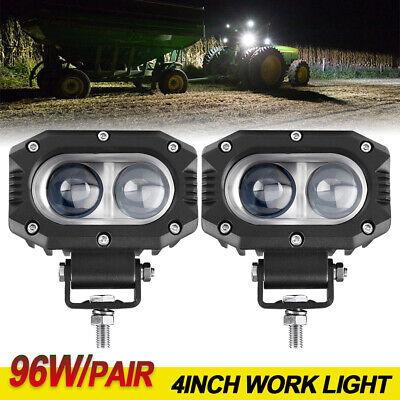 2pcs Spot Led Head Lamp For Caterpillar Skid Steers Excavator Forklift Light