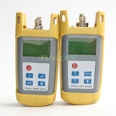 Fiber Optic Multimeter Tester Optical Power Meter Laser Light Source 13101550nm