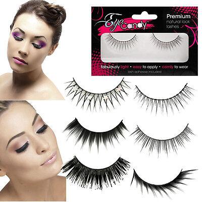 Natural/Costume Fake Eyelashes Makeup Thicker Longer False Eye Lashes + Glue