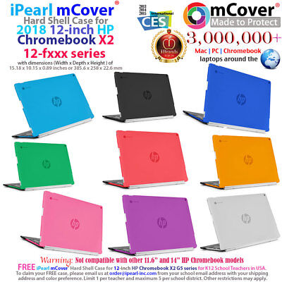 """mCover Hard Case for 2018 12"""" HP Chromebook X2 12-F000 serie"""