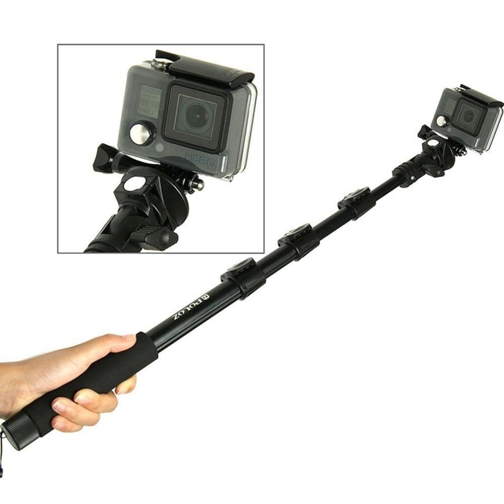 gopro hero 5 4 session 3 3 2 monopod 125cm xl selfie stick pole mount tripod ebay. Black Bedroom Furniture Sets. Home Design Ideas