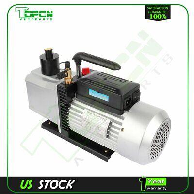 One Stage 12 Cfm 1 Hp Black Rotary Vane Deep Vacuum Pump Hvac Ac Air Tool Kit